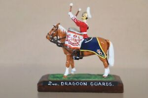 BRITAINS DUCAL RE PAINTED MOUNTED 2nd DRAGOON GUARDS DRUM HORSE nv