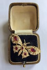 Butterfly Ring Circa 1800's A Fabulous Ruby & Pearl