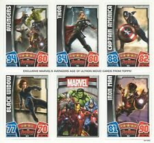 TOPPS HERO ATTAX MARVEL AVENGERS AGE OF ULTRON UNPUNCHED 6 CARD PROMO SHEET