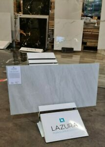 Grey Marble Effect Polished Porcelain Tiles 60x30 Piera