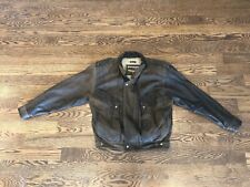 ADVENTURE BOUND Leather Bomber Jacket Thinsulate Removable Liner Medium