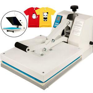 "Heat Press 15""X15"" Clamshell Sublimation Transfer Machine T-Shirt DIY 1400W"