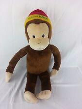 "Macy's Curious George Large Plush Stuffed Animal Brown Monkey Hat 24"" 2001"