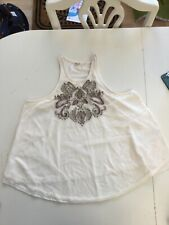 Hollister Ladies Cream Top With Sequin Detail Size S