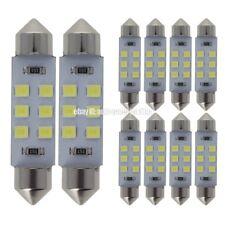 10x White 42MM 41MM 578 212-2 Car Festoon LED Interior Roof Dome Light Bulb
