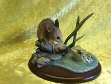 Border Fine Arts Natural Mice Collection A1494 MOUSE AND FROG 2002
