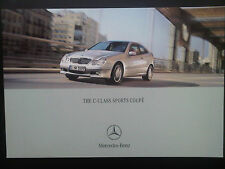 Mercedes-Benz C-Class Sports Coupe Brochure 2002 with AMG