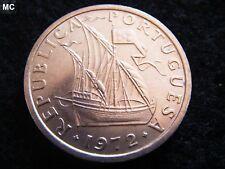 1972 Portugal 10 escudos de barco de vela en Extremadamente Fino Grado