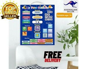 NEW OZ Educational Magnetic Children's My First Calendar & Weather Chart AUS