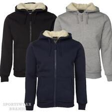 Mens Shepherd Hoodie Jacket Hooded Contrast Fleece Size S-5XL Winter Warm 3SH