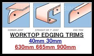 Kitchen Worktop Breakfast Bar Edging Joining Strips 900mm 665mm 630mm *BULLNOSE*