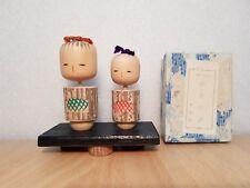 Vintage Japan Made Pair Kokeshi doll (approx 5-7cm)