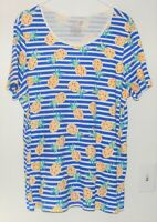 Women's Short Sleeve Shirt by Time and Tru size Plus XXXL 3XG Pinapples design