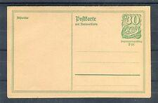 Deutsches Reich tutta causa P 143 (inutilizzato) incl. scheda di risposta-b0896