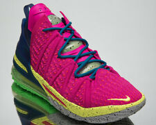 Nike LeBron XVIII Los Angeles By Night Men's Pink Multi-Color Basketball Shoes