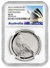 2016-P Australia $1 1 Oz Silver Wedge Tailed Eagle NGC MS70 ER SKU38613