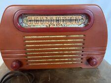 New ListingFada Radio 652 Model Red Excellent Working Condition