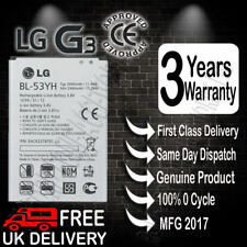 100% NEW LG BL-53YH Battery Genuine Replacement 3000mAh 3.8V For LG G3 D855 UK