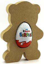 Teddy Bear non associate MDF kinder uovo Holder, Pasqua regalo VUOTO Craft Forma