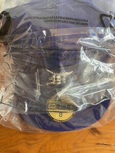 ✅ Fear of God New Era MLB FOG Cap Black Blue Navy Essentials 59FIFTY Fitted Hat✅