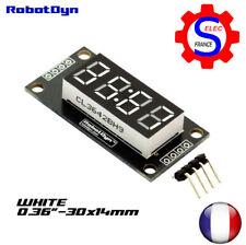 4-Digit LED Display Tube, 7-segments, TM1637, 30x14mm-White-Double dots (clock)