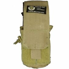 Bulle Tan MOLLE Webbing Tactical Rifle and Pistol Mag Pouch Small Bottle Utility