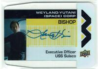 Aliens Movie 2018 Yutani Plexi Card Autograph WY-BI Lance Henriksen as Bishop