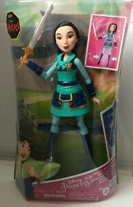 "Disney Mulan 2020 Disney Princess Warrior Moves Mulan Toy Doll Figure 10"""