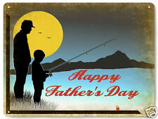 Father's day Dad gift sign fishing vintage style Great Gift mancave decor 277
