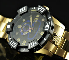 Invicta Grand Diver Black Dial BLUE LOGO Automatic 18K Gold Plated SS 200m Watch