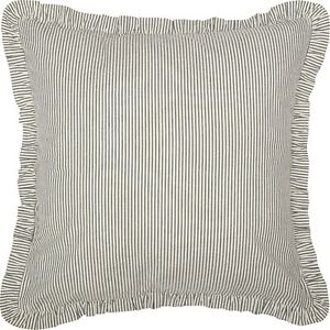 Hatteras Bed Shams & Pillow Cases - Standard, King, Euro Ticking Stripe & Patch