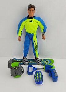 Vintage Max Steel TORNADO CHASER Snowboarder Mattel Talking ARTICULATED Figure