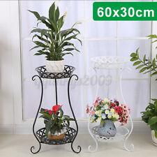 Plant Stand Outdoor/Indoor Metal Pot Shelf Garden Decor Flower Rack Wrought Iron