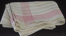 Vintage ANTIQUE FRENCH Large Linen RUNNER TOWEL MC Monogram UU865