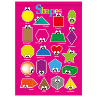 Shapes Education Wall Chart Poster, Kids, Children, Ideal for Nurseries, Schools