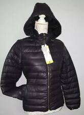 BNWT Steve Madden Women's Down showerproof Jacket,DARK PURPLE Olive -  size S