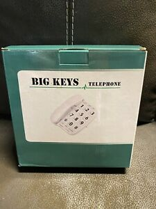 BIG KEYS, Large Buttons, Volume Control, Telephone White FREE SHIPPING!