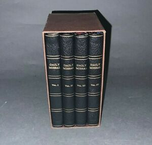 4 Volume Boxed Set of Saint Andrew Daily Missal Pocket Edition 1947 printed 1950