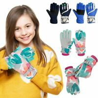For Boys Girls Kids Children Ski Winter Gloves Windproof Thermal Warm Outdoor US