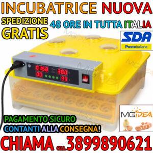 INCUBATRICE AUTOMATICA 56 UOVA GIRAUOVA PROFESSIONALE + KIT SVEZZAMENTO PULCINI