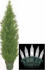 ARTIFICIAL OUTDOOR 8' CEDAR TREE CYPRESS TOPIARY PINE CHRISTMAS LIGHTS POOL YARD