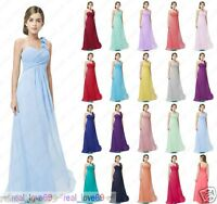 One Shoulder Princess Flower Girl Junior Party Prom Bridesmaid dresses 2-16 year