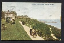 View of People & Wheel Chair, Madeira Walk, Folkestone. Posted 1920.