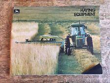Vintage John Deere Haying Equipment Brochure Baler Swather 1970s