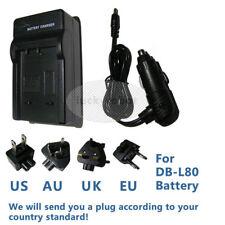 Battery Charger For Sanyo DB-L80 Xacti VPCCS1P VPC-CG10 CG10 VPC-CG20,DMX-CS1G