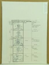 Beetlejuice Original Hand Drawn Storyboard Animation Sketch Page 157 (32-7)
