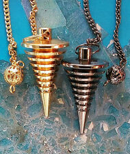 2 JOE SMITH STYLE DANCING TITANIUM,GOLD DOWSING PENDULUMS,MOST ACCURATE ANYWHERE