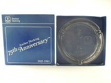 Anchor Hocking 75th Anniversary 1905-1980 Glass Cigarette Ashtray With Box