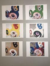 """Takashi Murakami Set of 6 Postcards Kai Kai DOB """"And Then"""" 5.75x4"""" New RARE"""