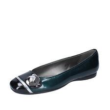 Women's shoes HOGAN 3.5 (EU 36,5) ballet flats green p leather black BK778-36,5